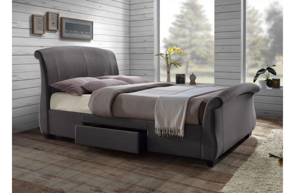 littlesmornings com grey upholstered king size bed