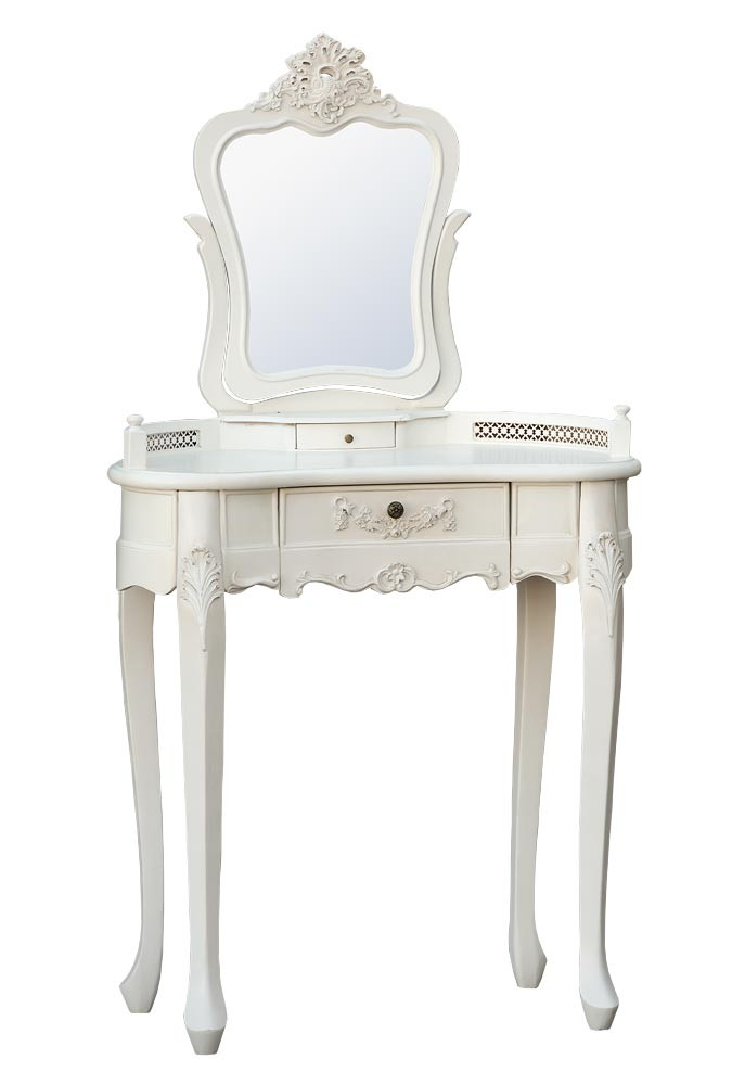 Small Dressing Table : Antique White Dressing Table Mirror And Stool Pictures to pin on ...