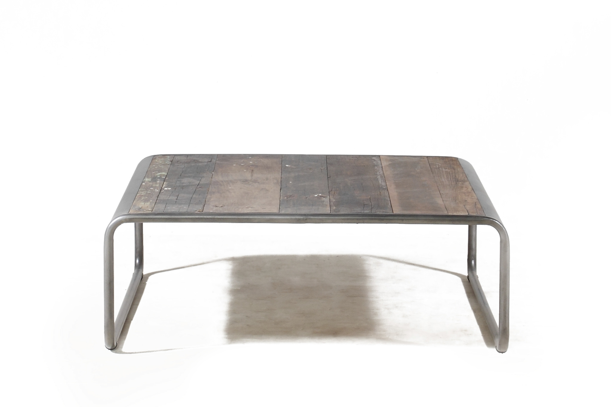 Calabar Urban Reclaimed Wood amp Cast Iron Small Coffee Table