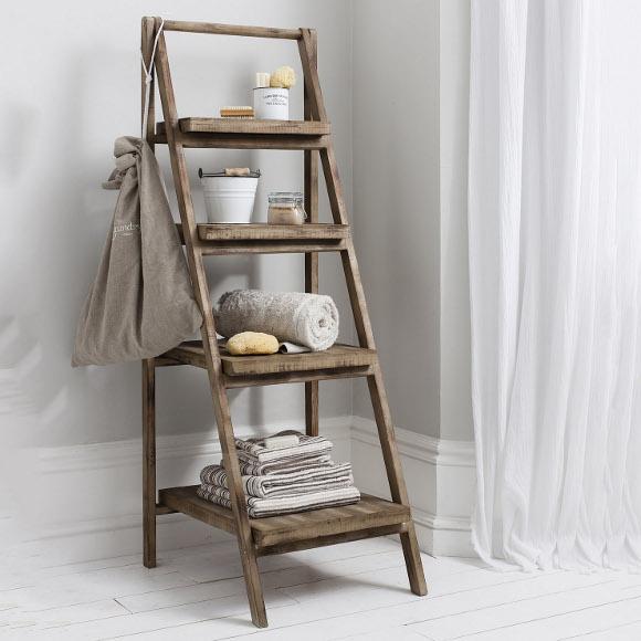 Cartwright Wooden Ladder Shelf Unit