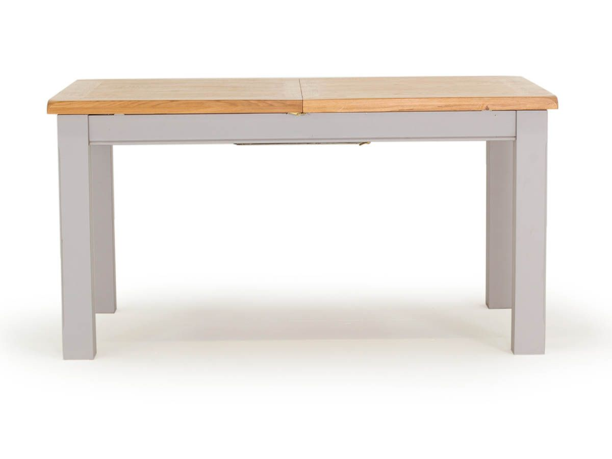 Clemence Grey Oak Country Style 4ft Extending Dining Table Seats Upto 8