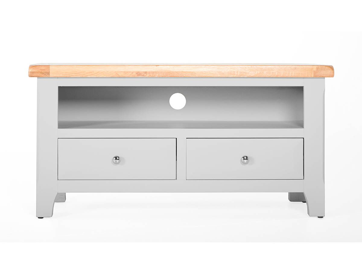 clemence grey oak country style tv media cabinet