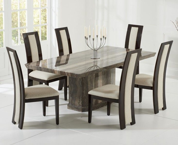 Marble Dining Table And 6 Chairs marble dining table and 6  : como 200cms brown marble dining table six chairs 70365 p from faithhopeandhomeschool.com size 733 x 600 jpeg 56kB