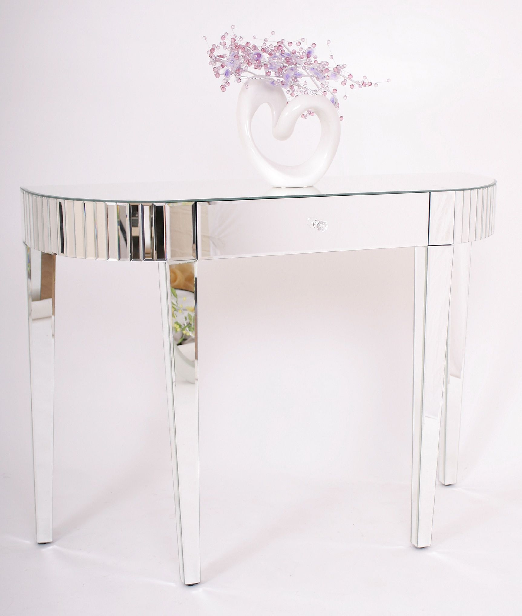 Contemporary Mirrored Venetian Glass Half Moon Console Table : contemporary mirrored venetian glass half moon console table 27183 p from www.uniquechicfurniture.co.uk size 1725 x 2033 jpeg 170kB