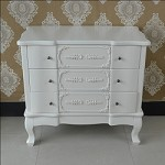French Painted  White Three Drawer Chest Of Drawers