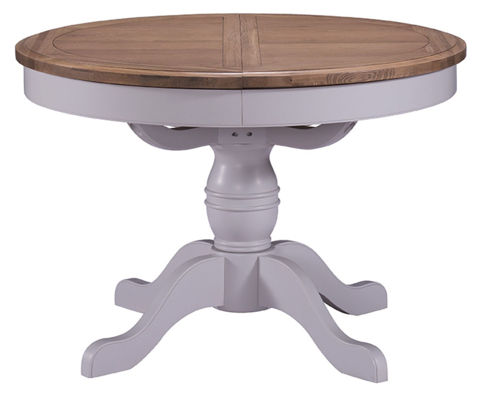 Georgia Country Light Grey Extending Round Table OUT OF  : georgia country light grey extending round table out of stock until dec 32625 p from www.uniquechicfurniture.co.uk size 1600 x 1316 jpeg 115kB