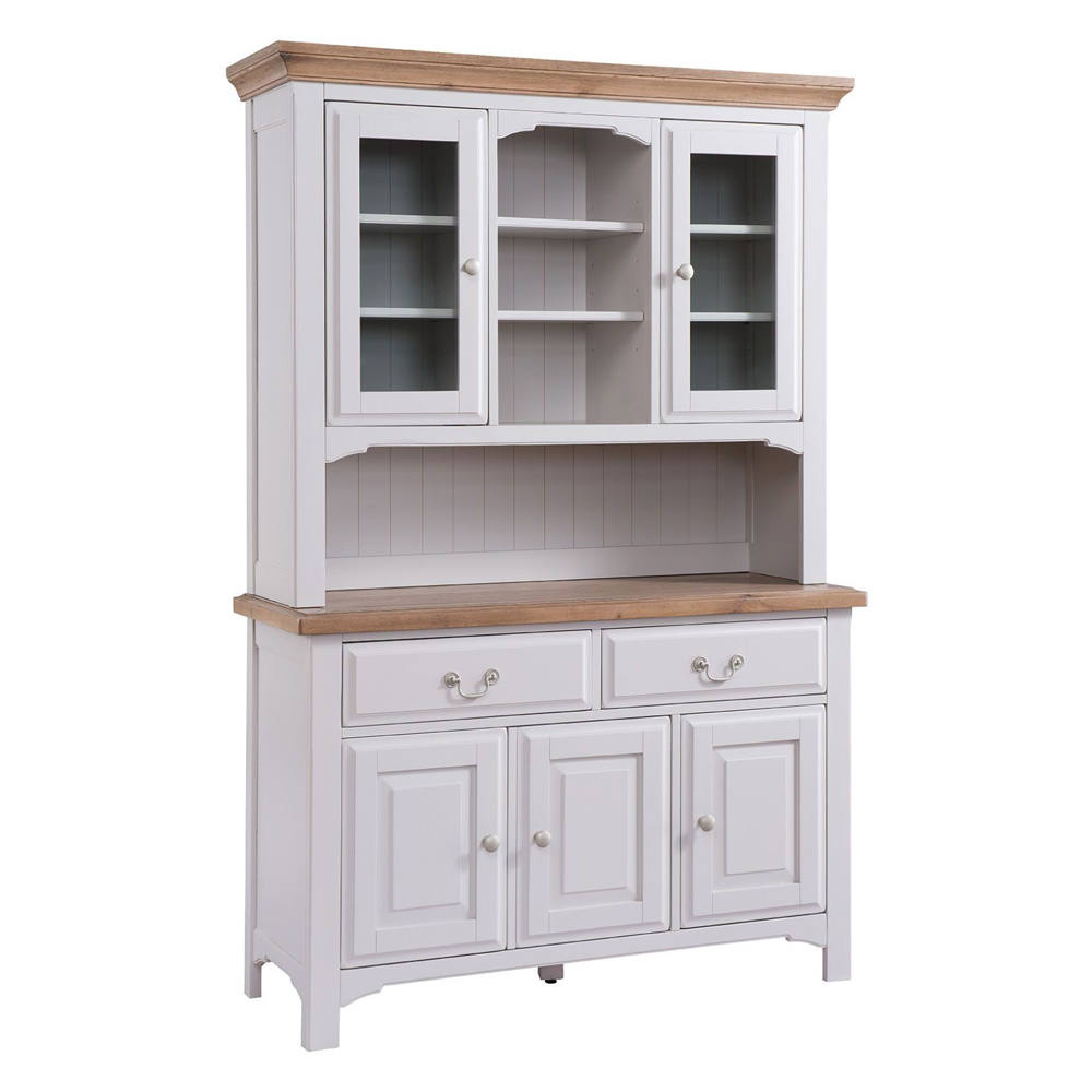 Georgia Country Light Grey Large Kitchen Dresser