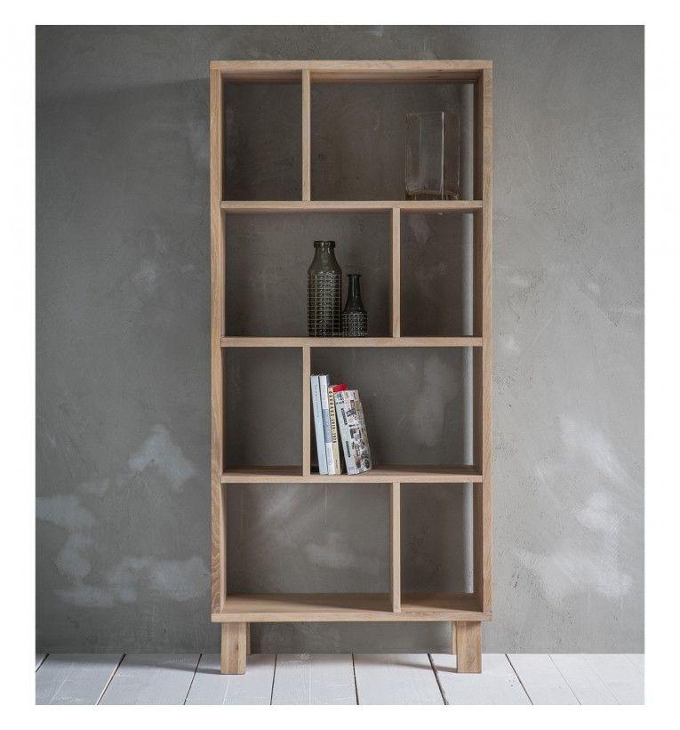 Kielder Contemporary Oak Open Bookcase Display Cabinet