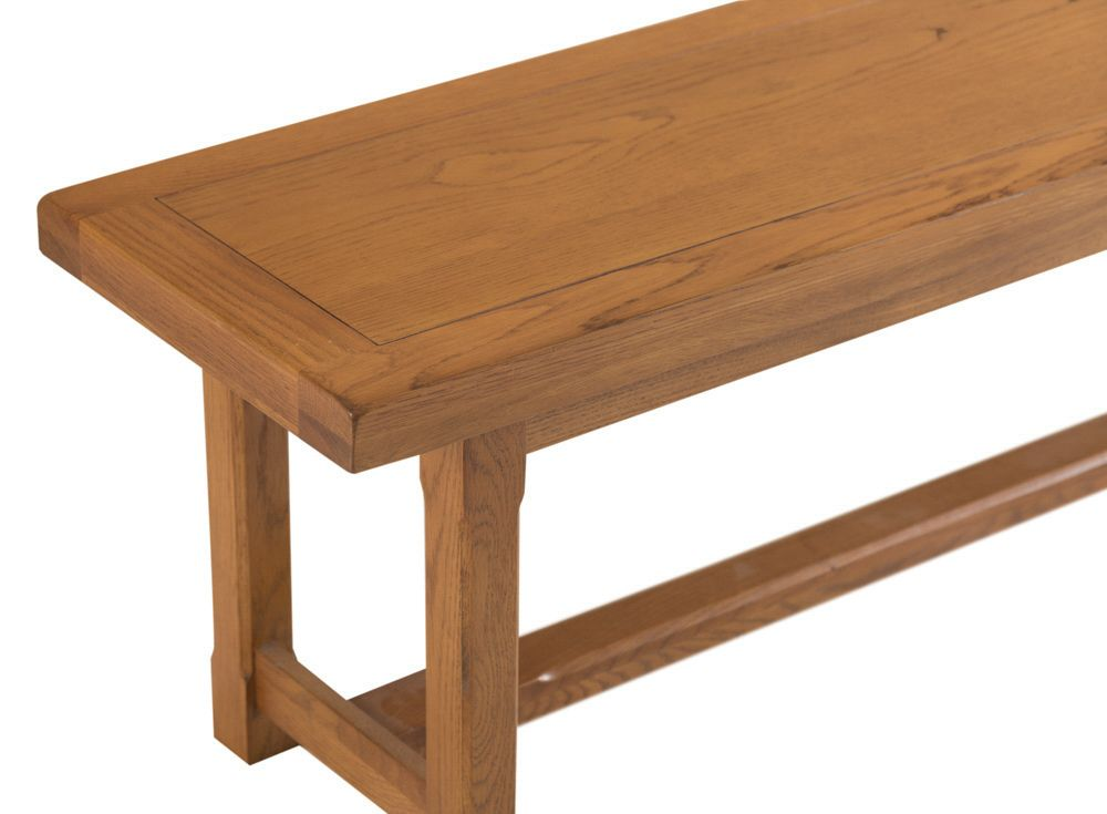 Lima Country Style Oak Large Dining Table Bench