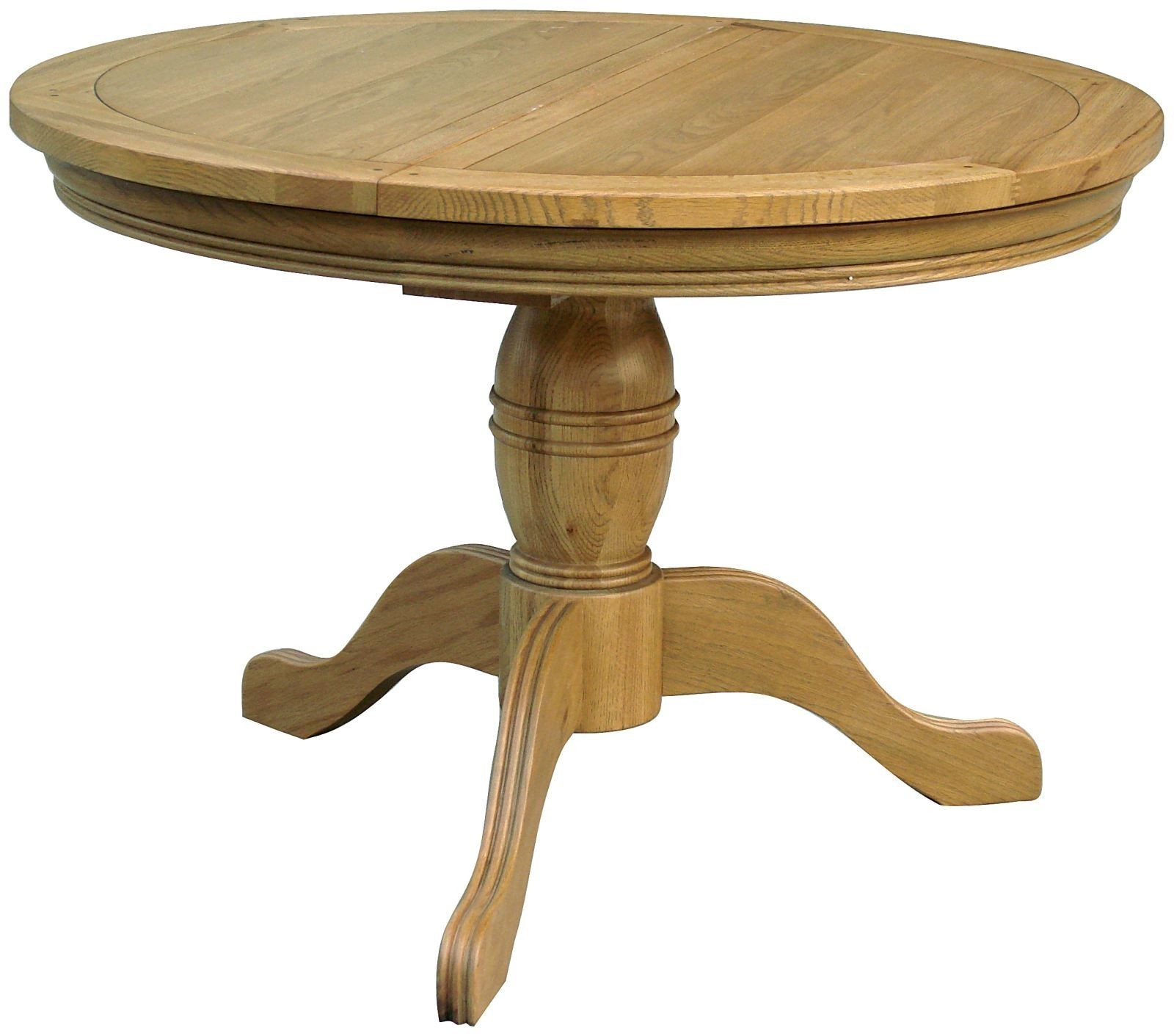 Antique Round Kitchen Table Livingstone Oak Round Pedestal Extending Dining Kitchen Table Home
