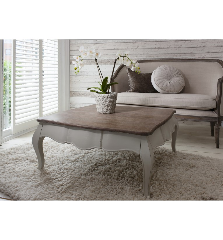 Square Coffee Table Grey: COUNTRY SHABBY CHIC MAISON FRENCH SQUARE PAINTED COFFEE