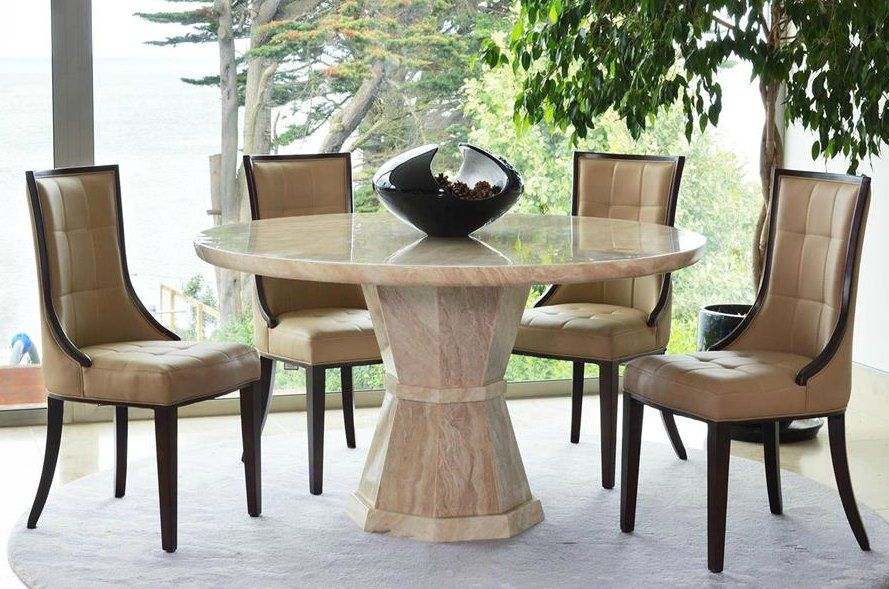 Marcello Marble 130cms Dining Table amp Four Chairs : marcello marble 130cms dining table four chairs chair colour brown 57518 p from www.uniquechicfurniture.co.uk size 889 x 589 jpeg 118kB