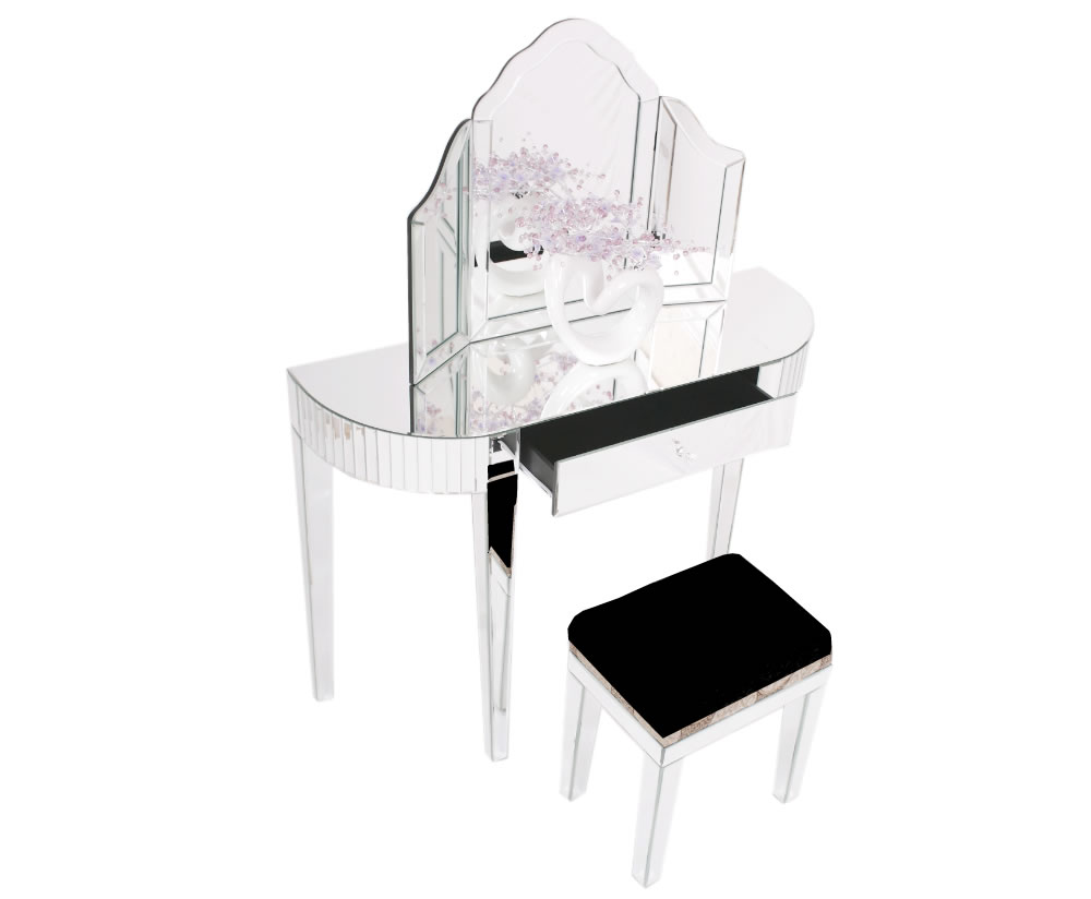 Venetian Mirrored Dressing Table Stool images