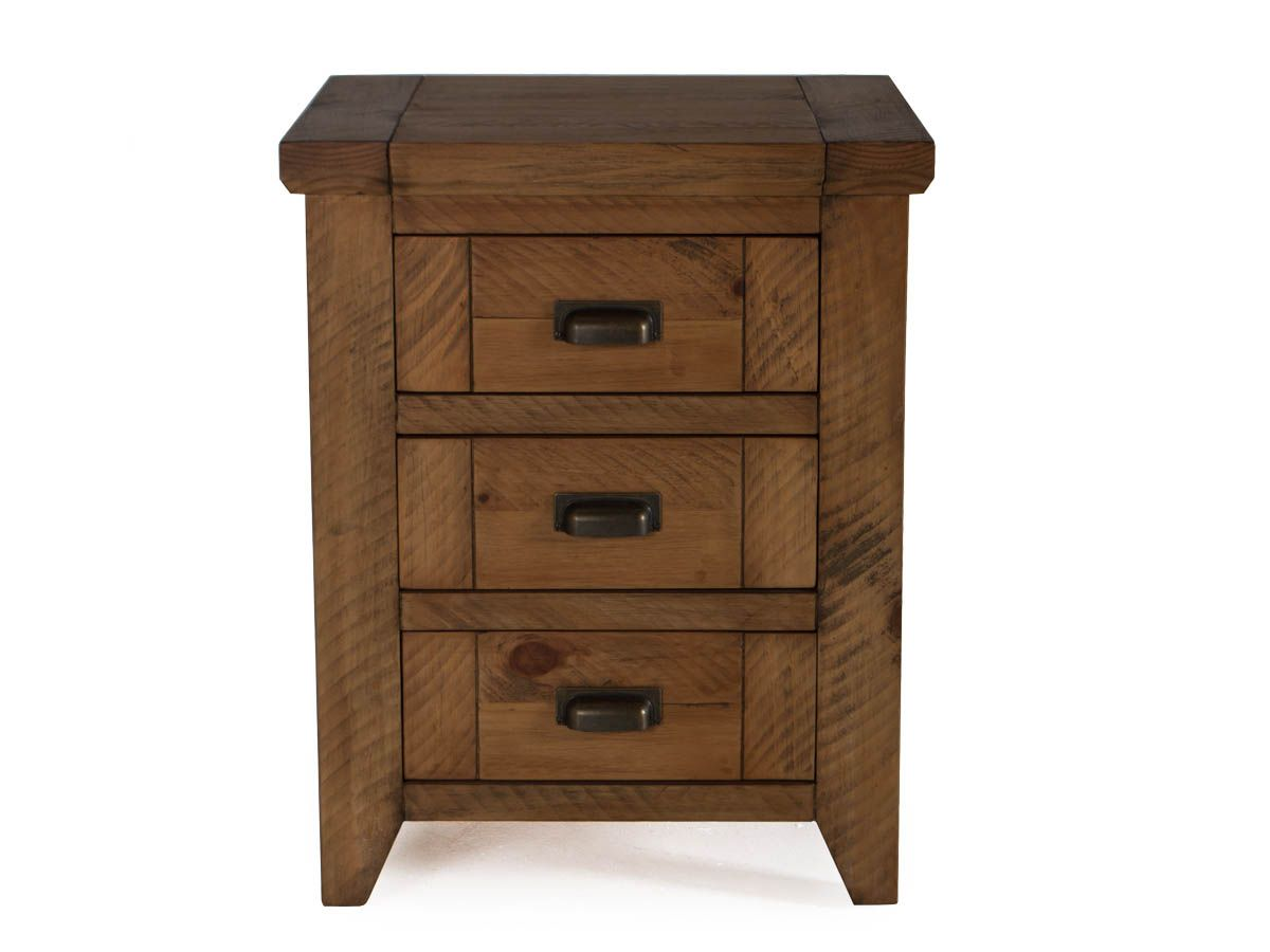 New Forest Reclaimed Pine Bedside Cabinet