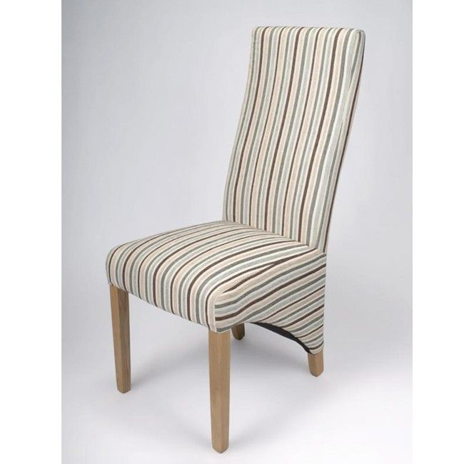 Striped upholstered dining chairs lorenzo upholstered for Striped upholstered dining chairs