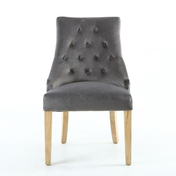 brushed velvet grey dining chairs home trends fabric dining chairs