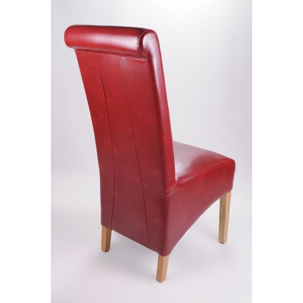 Pair Of Krista Burgundy Bonded Leather Roll Back Dining Chairs : pair of krista burgundy bonded leather roll back dining chairs 51791 p from www.uniquechicfurniture.co.uk size 1000 x 1000 jpeg 48kB