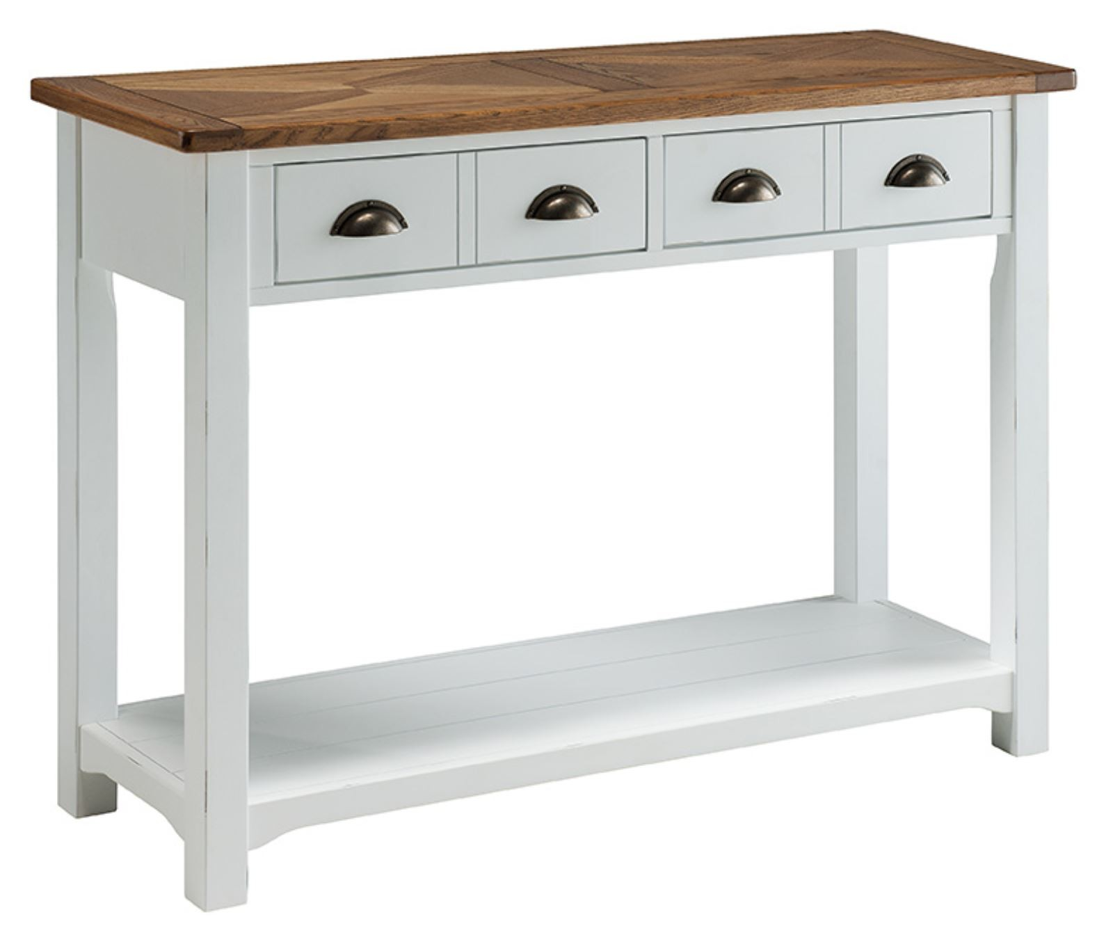 Porto Painted White Reclaimed Pine Chunky Style Console Table : porto painted white reclaimed pine chunky style console table 38395 p from www.uniquechicfurniture.co.uk size 1600 x 1354 jpeg 118kB