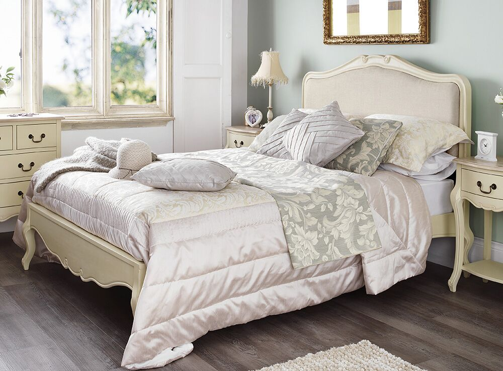 Rochelle Shabby Chic Champagne Painted 5ft King Size Bed