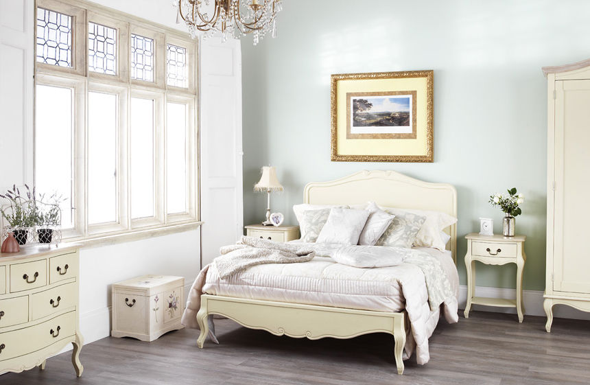 rochelle shabby chic champagne painted 5ft king size bed. Black Bedroom Furniture Sets. Home Design Ideas