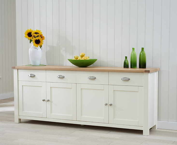 Unassembled Kitchen Cabinets Extra Long Sideboard Buffet Oak