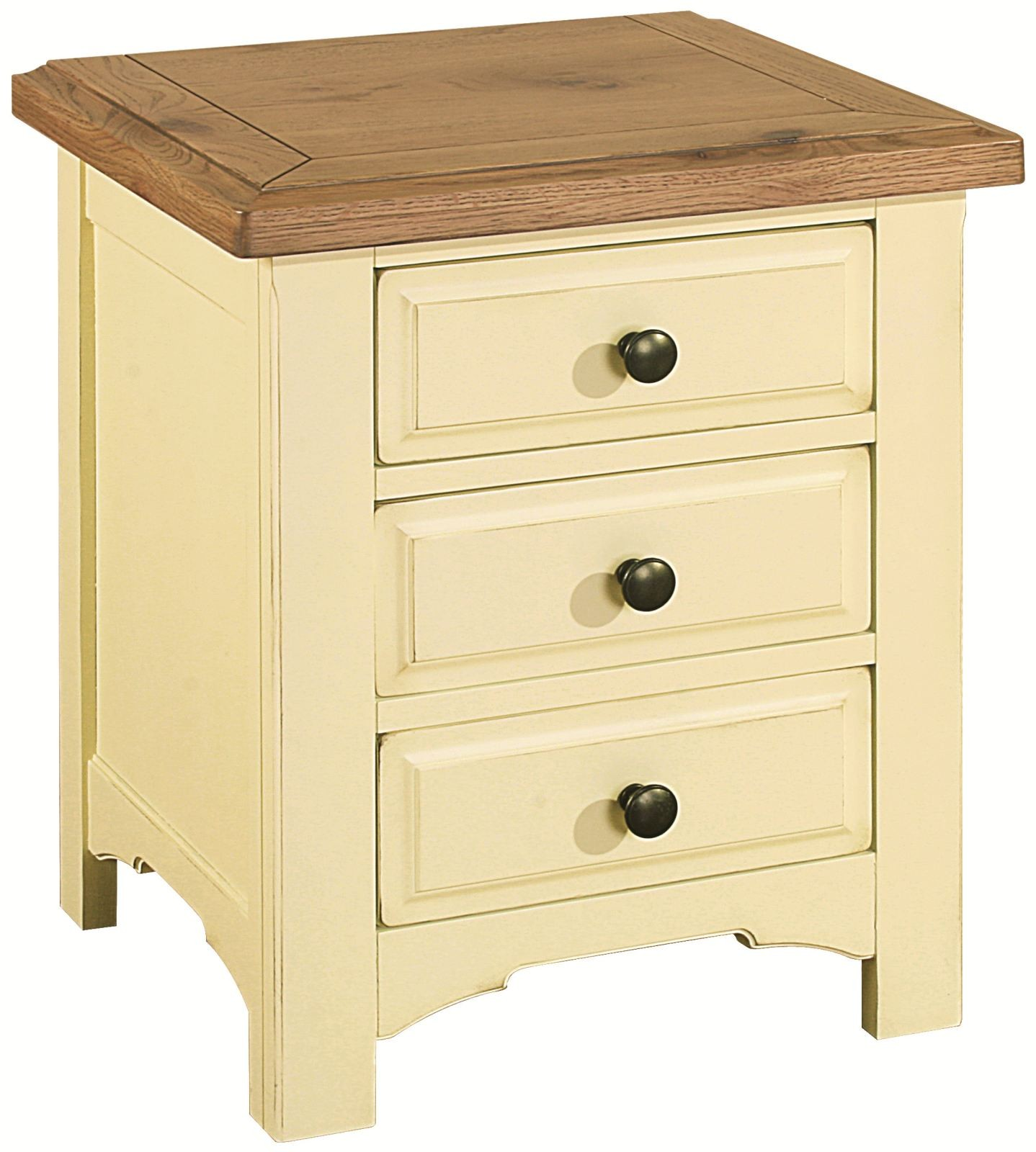 Savannah Country Cream Painted Wooden Bedside Table